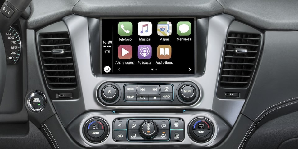 Chevrolet Suburban 2020, camioneta de lujo con Smartphone Integration con Apple CarPlay y Android Auto
